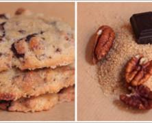 Cookies aux éclats de chocolat et noix de pécan