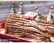 Bûche de Noël chocolat et crème de marrons